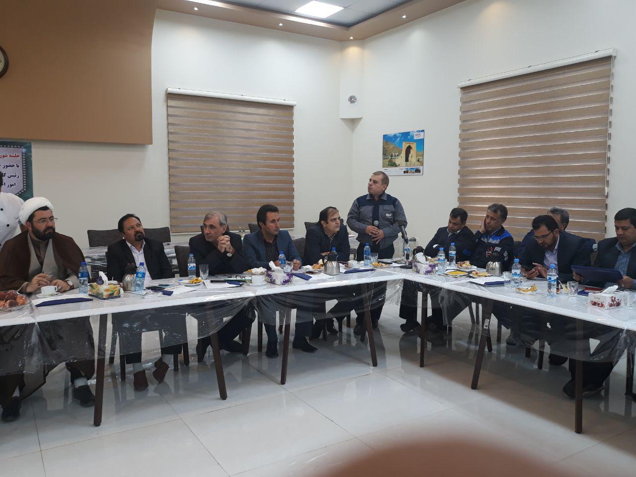 برگزاری جلسه شورای پیشگیری و وقوع جرم شهرستان خواف در مجتمع فولاد سنگان
