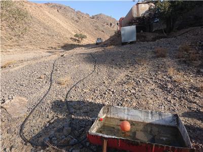 آبگیری آبشخور شماره دو مجتمع سنگان