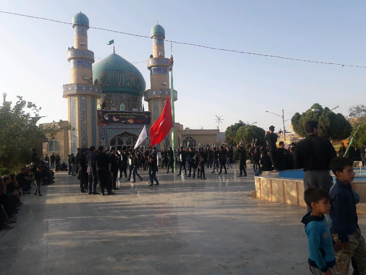 حضور هیات های عزاداری سراسر شهرستان در حسینیه خواف