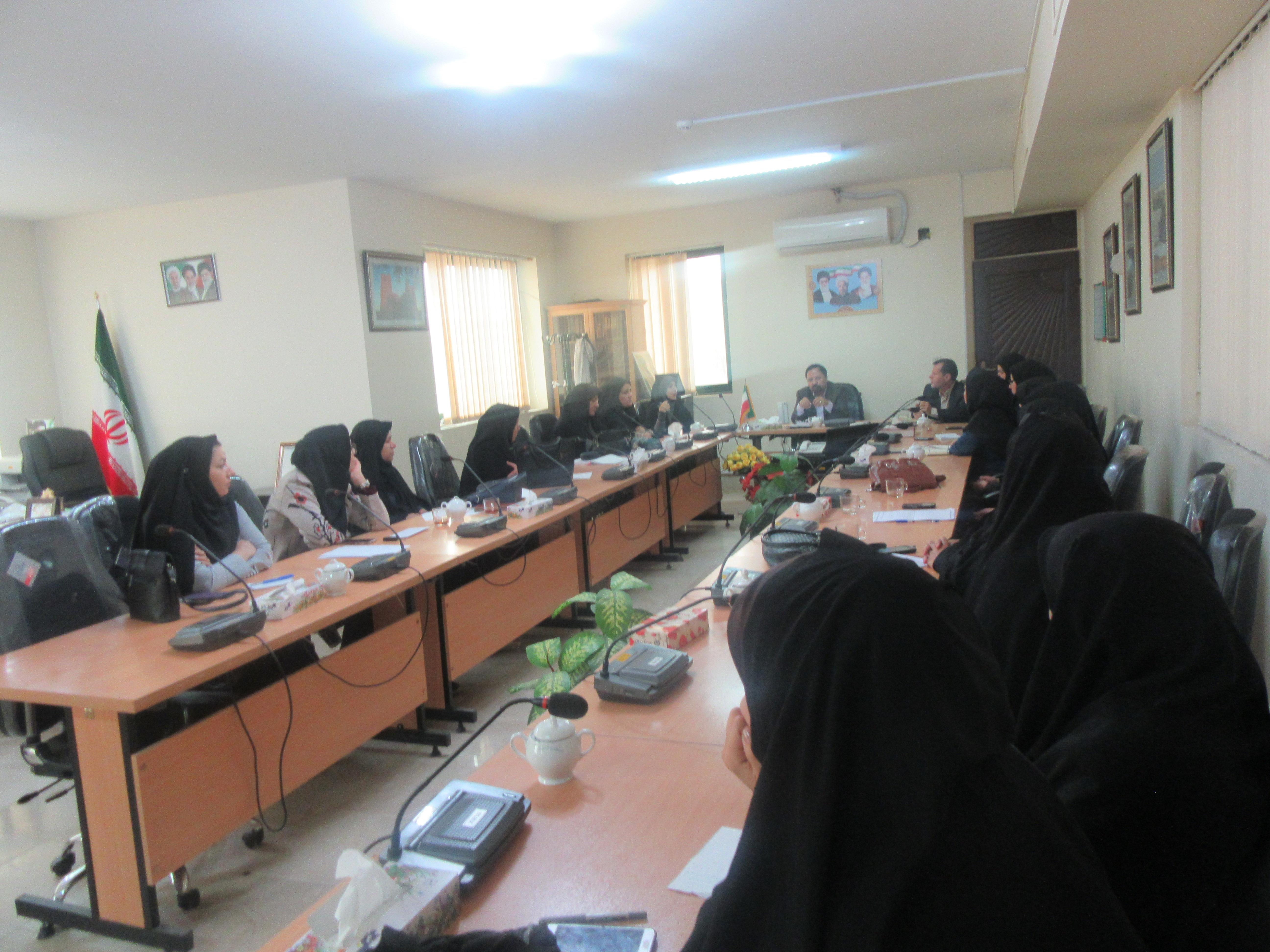 جلسه کارگروه امور بانوان و خانواده شهرستان خواف برگزار گردید