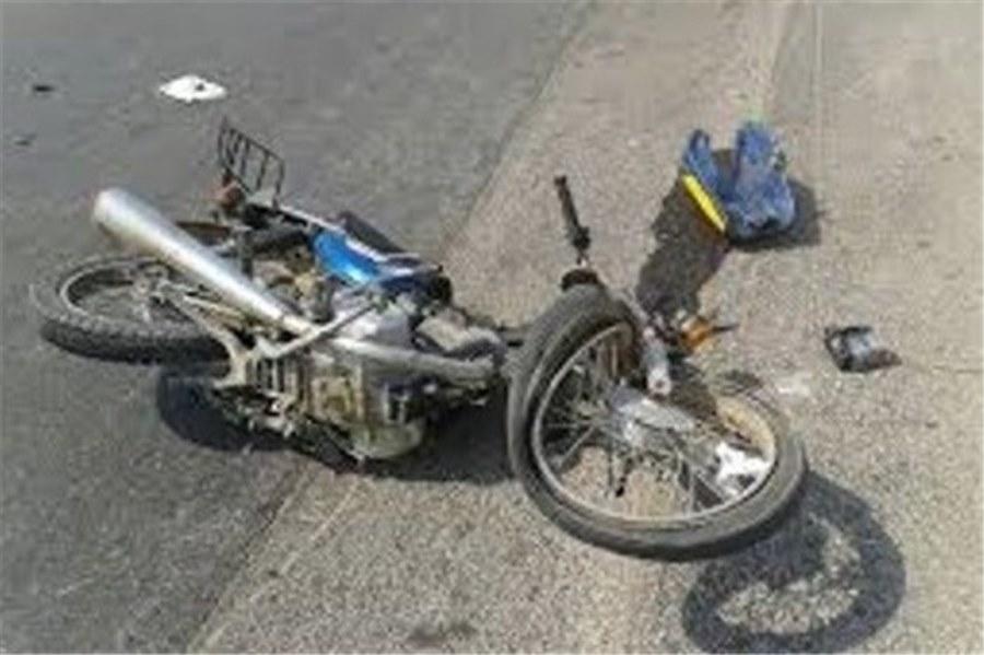 تصادف دانش آموزان موتورسوار خوافی با یک دستگاه تریلی