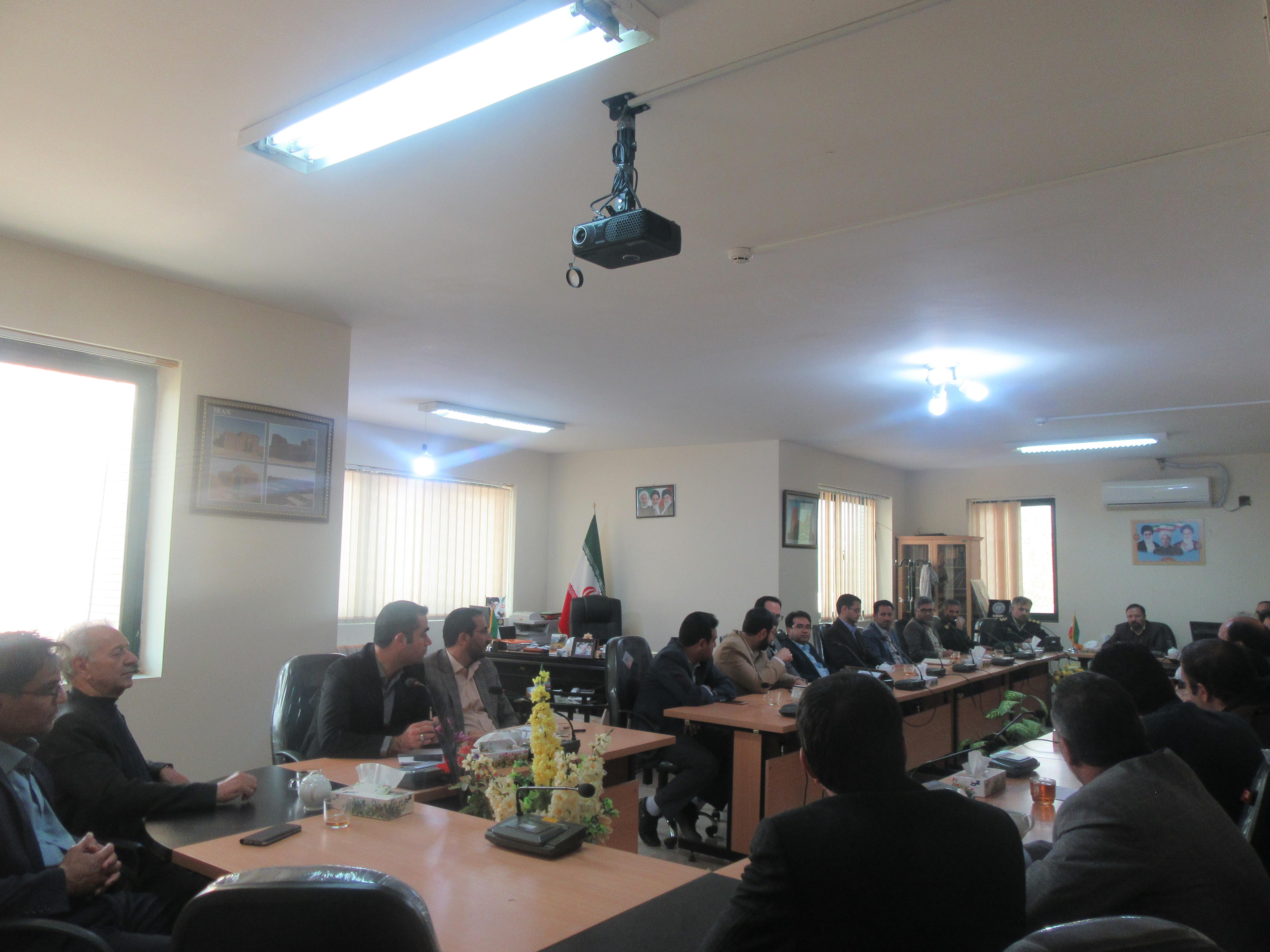 جلسه هماهنگی برگزاری مانور سراسری زلزله در مدارس شهرستان خواف