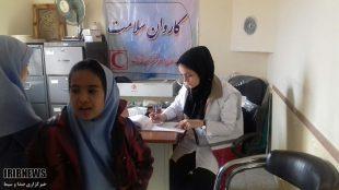 کاروان سلامت هلال احمر خواف در مناطق روستایی