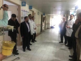 به مناسبت روز پرستار صورت گرفت؛ بازدید  از بیمارستان ۲۲ بهمن شهرستان خواف