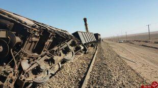واژگونی قطار باری سنگ آهن خواف در شهرستان انار