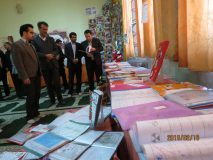 افتتاح نمایشگاه ارزشیابی کیفی توصیفی قطب شهید برونسی آموزش و پرورش