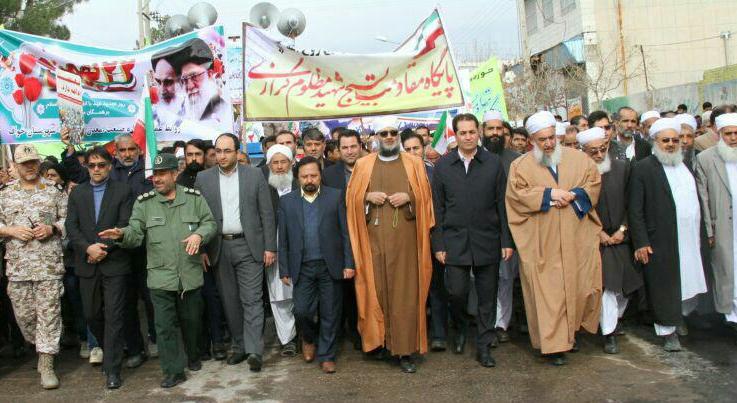 حضور پرشور مردم شهرستان خواف در راهپیمایی 22 بهمن
