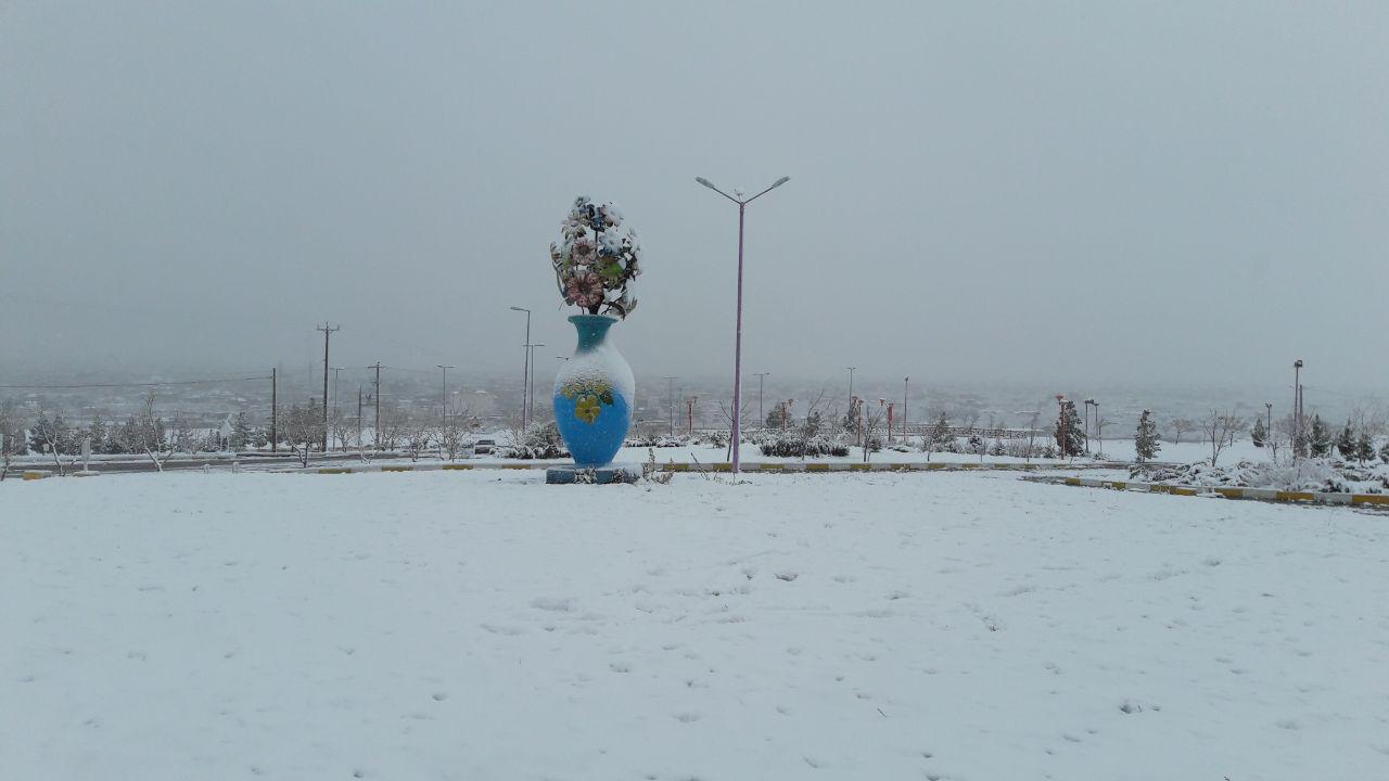 گزارش تصویری از بارش برف اخیر در خواف