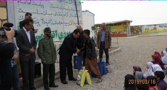 اهدای ۶۱۰ بسته حمایتی(پوشاک و غذا) در مدارس محروم بخش سنگان به همت شرکت امیرپارسیان سنگان