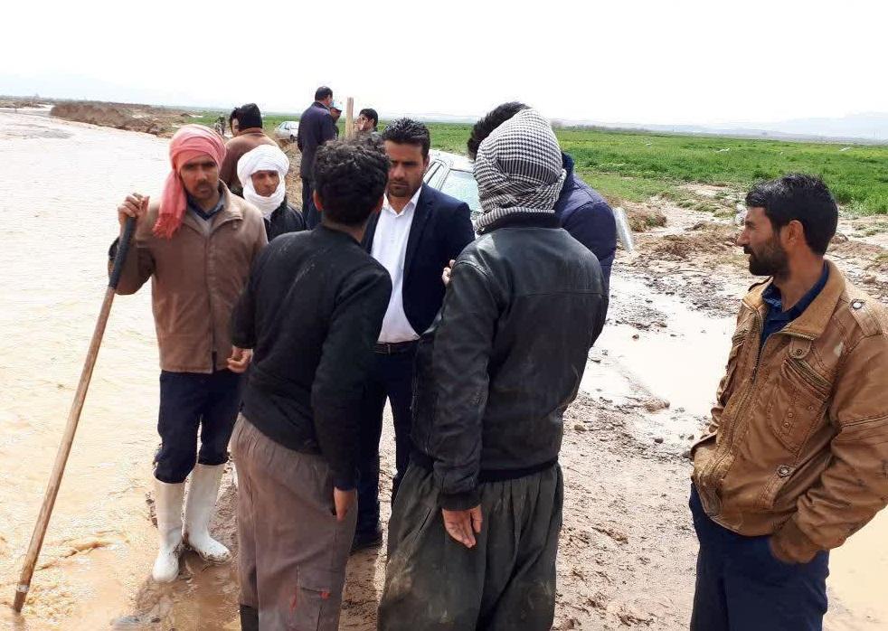 بررسی وضعیت بند، و مسیل های روستاهای سده و احمد آباد خواف