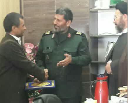معارفه سرهنگ پاسدار یاقوتی نژاد به عنوان مسئول بنیاد حفظ ونشر آثار دفاع مقدس شهرستان خواف