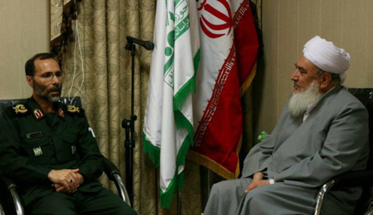 دیدار فرمانده قرارگاه ثامن الائمه مشهد با مدیر حوزه علمیه احناف خواف
