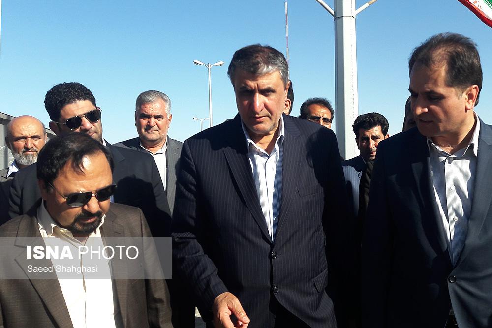 بازدید وزیر راه و شهرسازی از جادهها و خطوط ریلی خواف