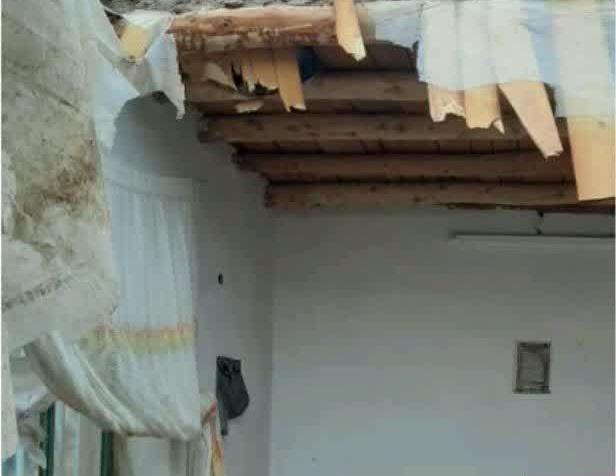بارش باران و تخریب منزل مسکونی در نیازآباد