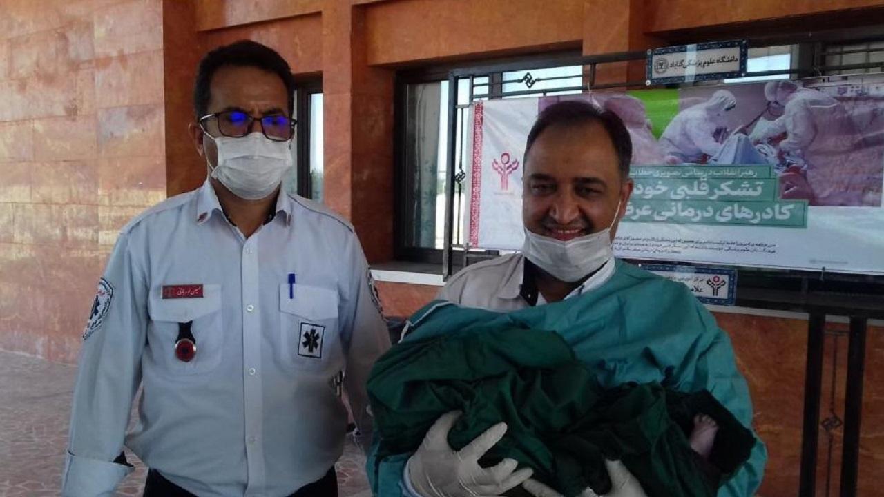 تولد نوزاد عجول قطارگزی در آمبولانس