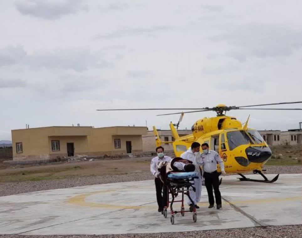 بالگرد اورژانس به کمک سیل زدگان خواف آمد