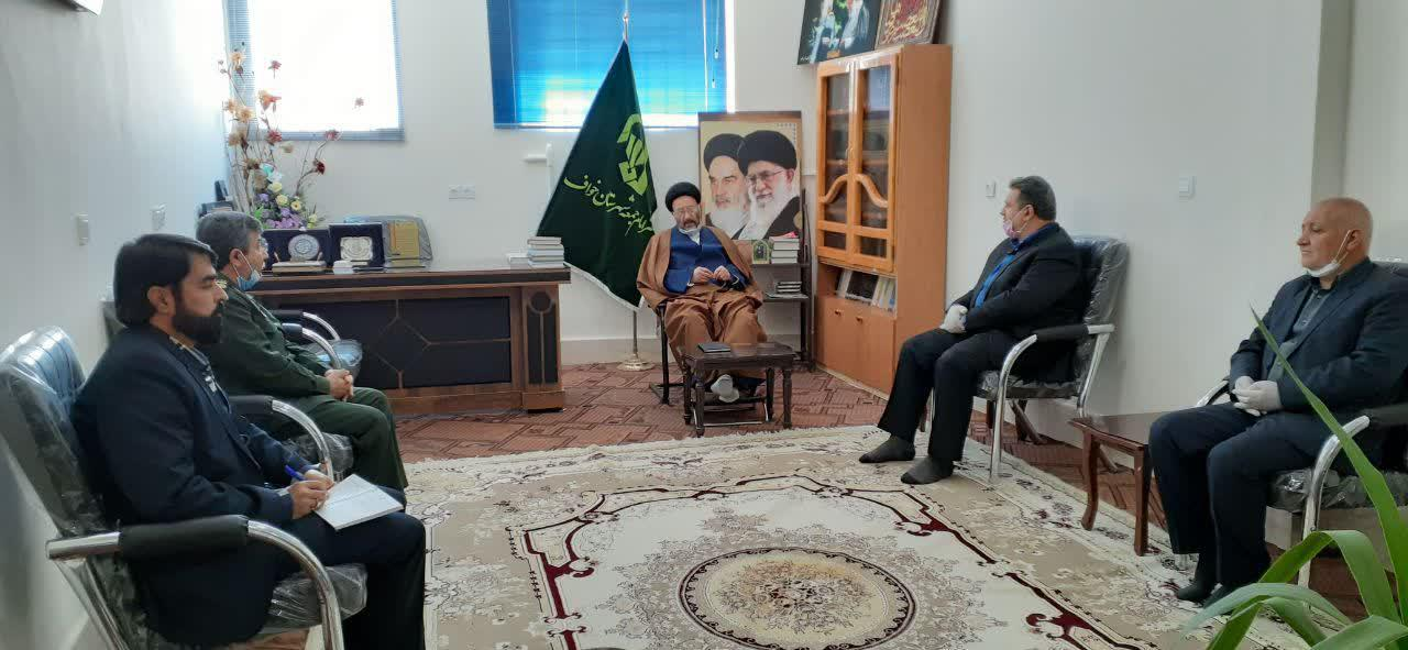 برگزاری جلسه هماهنگی مواسات با رمز لبیک یا امام در دفتر امام جمعه شهرستان خواف