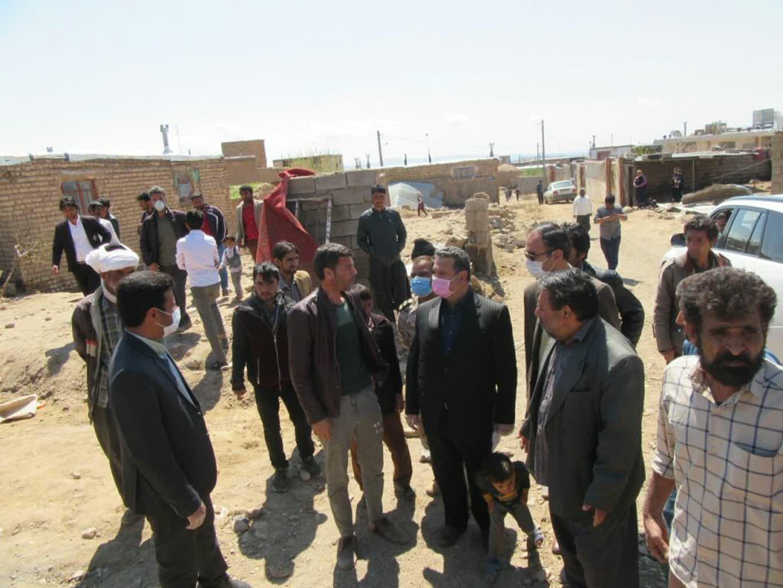 بازدید فرماندار خواف از خرابی های سیل روستای رزداب