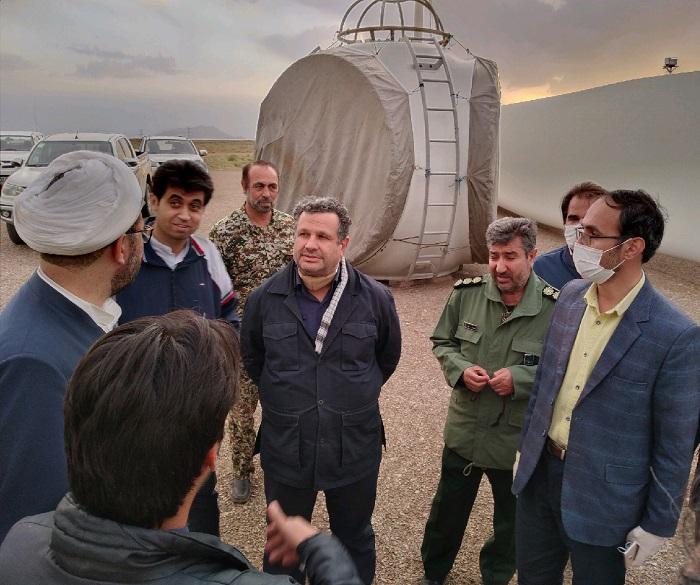 بازدید فرماندار خواف از نیروگاه بادی ۲.۵ مگاواتی آترین ایرانیان