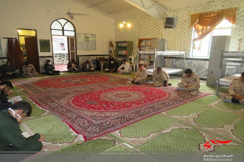 محفل انس با قرآن با رعایت مسائل بهداشتی و فاصله ی اجتماعی در محل سپاه ناحیه خواف