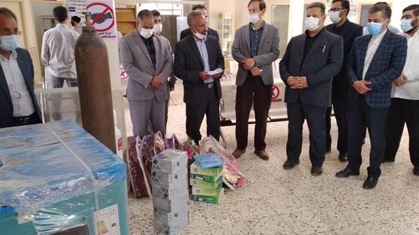 همزمان با گرامیداشت هفته دولت کمک های خیرین به مرکز بهداشت سنگان خواف تحویل شد