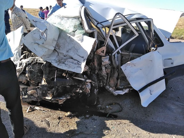 تصادف شدید در قاسم آباد