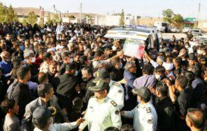 تشییع پیکر افسر شهید نیروی انتظامی در خواف